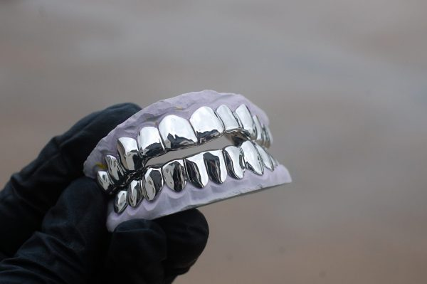 White Gold Classic Solid Gold Grillz - GotGrillz