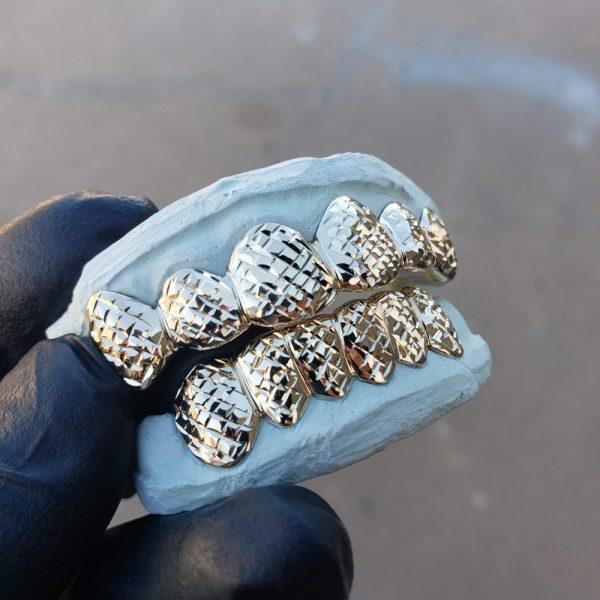 Yellow gold diamond cut grillz (1) - GotGrillz
