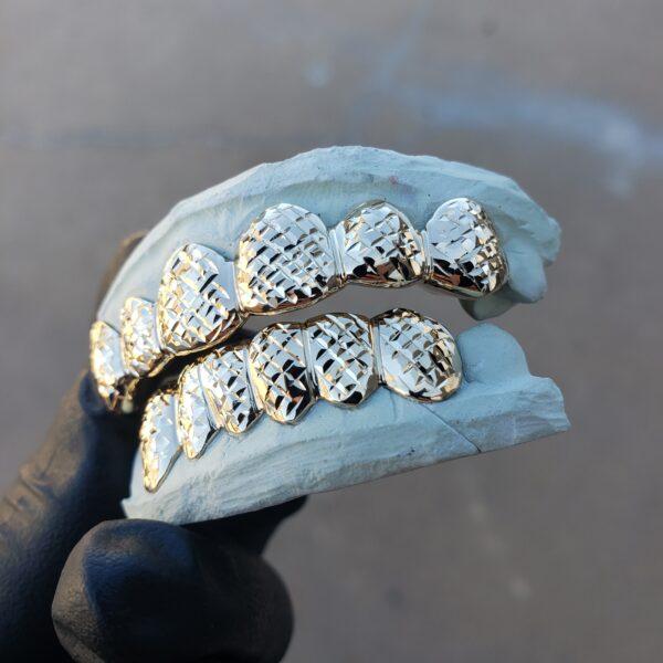 yellow gold diamond cut grillz (3) - GotGrillz